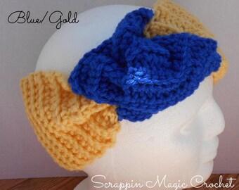 Crochet Twisted Knot Ear Warmer ~ Pattern download ~ Scrappin Magic Crochet