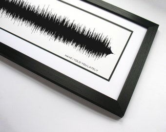 Have I Told You Lately: Rod Stewart Music Print, Sound Wave Design