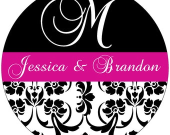 48 - 2.5 inch Personalized Waterproof Wedding Stickers Labels - hundreds of designs to choose from - change design to any color, etc WR-003