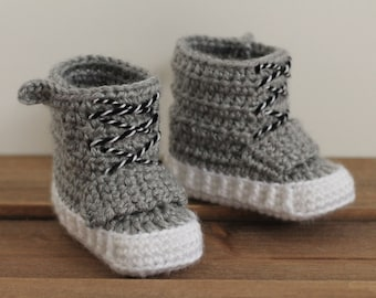 "Cool Crochet PATTERN baby boys booties ""Fallon"" Boot cool Crochet PATTERN ONLY"