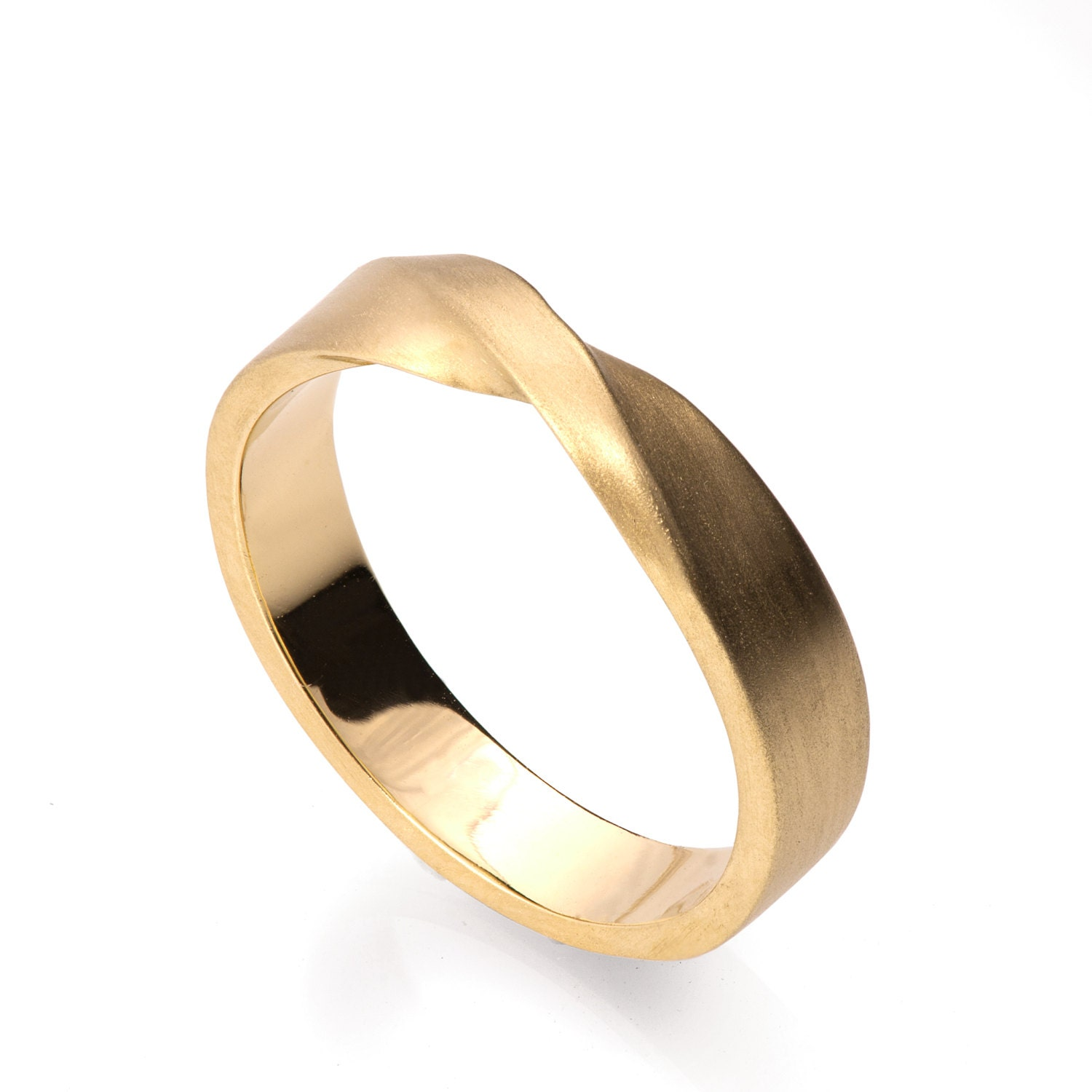 Mobius Ring 18k Gold Ring Wedding Ring Gold Wedding Ring