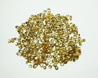 Gold Loose Cupped 5mm Sequins- (5grams)(.18oz)