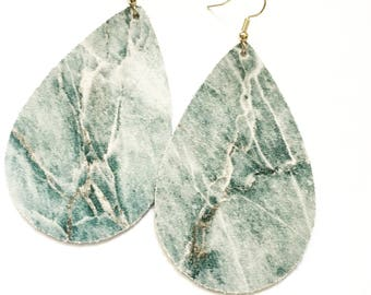 Marble Leather Teardrops- Item # C1