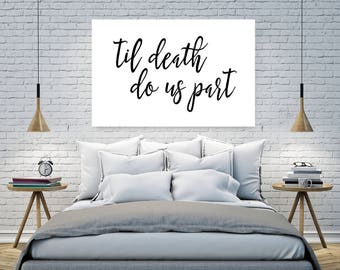 Til Death Do Us Part Wall Print, Wedding Gift, Wall Art, Quote Wall Art, Home Décor, Instant Download, 24x36 Print