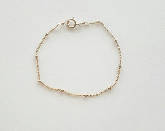 Satellite  bracelet / gold filled / sterling silver / / gift / mom / wife / girlfriend / simple / minimalist/ dainty