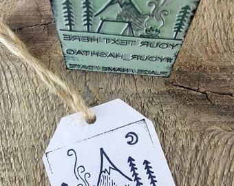 Camp BIG STAMP, Custom Stamp, Your Own Stamp, Name Stamp, Hashtag Stamp, Wedding Stamp, Custom Business Stamp, Adventure Stamp, Design Stamp