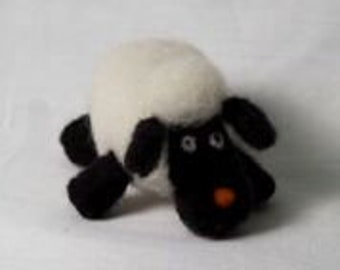Needle Felted Sheep Wool Felted Black Face Sheep Unique gift