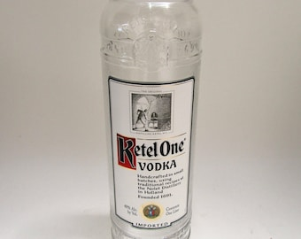 Recycled 1 Liter Ketel One Vodka Bottle Vase