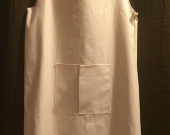no tying canvas artist apron
