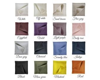 Natural linen placemats, Linen placemat set, Fabric placemats, Custom placemats sets, 16 colors, Rectangle place mats