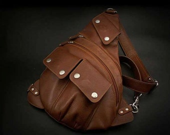 Leather Backpack, Shoulder Bag, K05D40