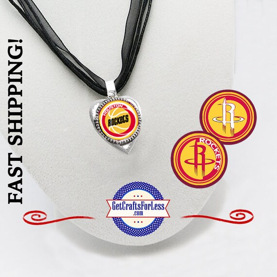 HOUSTON Basketball Heart PENDaNT, CHooSE from 3 Designs and Ribbon Cord - Super CUTE!  +FREE SHiPPiNG & Discounts*
