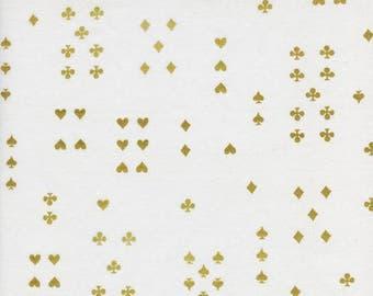 Follow Suit Cream Metallic  - Wonderland - Cotton LAWN - Anna Bond Rifle Paper Co - Cotton + Steel - 8021-31