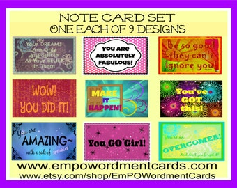 Positivity Note Card Set, Teacher gift, Direct Sellers, Gifts under 20,  thank you notes, women gift, girl gift, encouragement for team