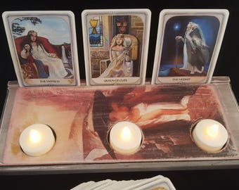 Wooden Tarot Card Display / Tarot Card Holder The Tarot Reading Room & Art Studio Wendy Kennedy