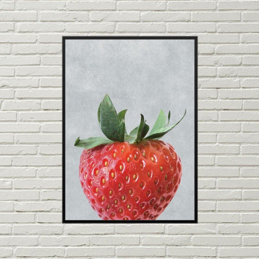 Erdbeer-Kunstdruck Erdbeer digital print Erdbeer Küche