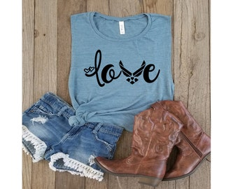 Air Force Love-Air Force Wife-Military Wife-Air Force Life-Military Life-America-U.S.A.-Air Force-Women's Muscle Tanks