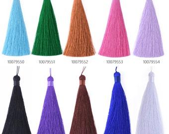 6PCS 12cm silky tassel, Handmade tassel for making jewelry 100795