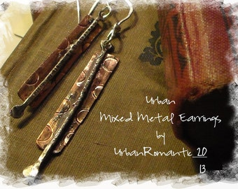 Urban Mixed Metal Earrings Made to order