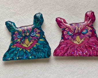 Owl Sparkle Xray Markers Customized with Initials