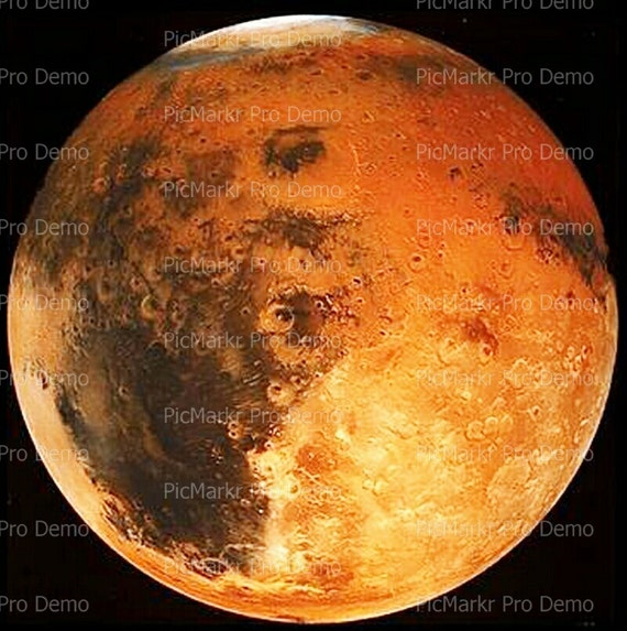 Mars the Planet - Edible Cake and Cupcake Topper For Birthday's and Parties! - D9488