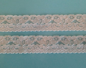 Stretch Lace CREAM B22 -1 inch -5 yards