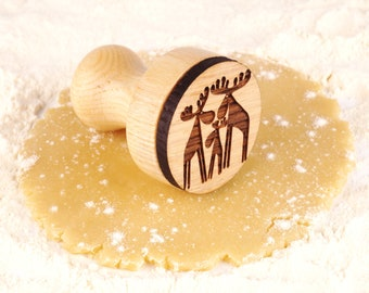 Wedding Favor Stamp Wooden Stamp Cookie Cutters Plunger Engraved Plunger for Embossed Personalized Gift Custom Stamp for Dough Candy Bar
