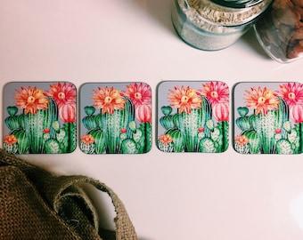 Cactus Coasters - Set of 4 - Handmade Tropical Cacti Succulent Retro Vintage - Kitsch Republic
