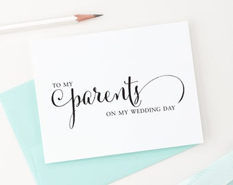 To My Parents on My Wedding Day, Wedding Card to my Mother and Father, Parents of the Bride or Groom Cards, To my Mother, WCP02