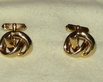 Vintage Swank Gold-Toned Cuff Links Antique Cuff Links Swank Cuff Links 1960's