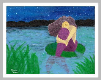 "LIQUIDATION SALE: The Lost Mermaid 11""x14"" Fine Art Print - Last one left!!!"