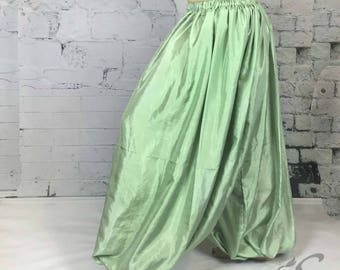 Celery green/harem pants/belly dance/pantaloons/ tribal/ renaissance