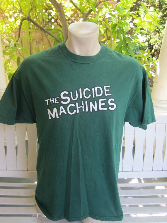 Size XL (47) ** Rare 1996 The Suicide Machines Concert Shirt (Double Sided) ufu0VQlr