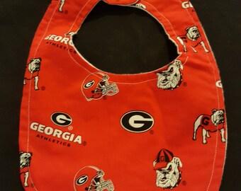 University of Georgia Bulldogs Custom Baby Bib