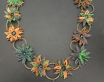 Floral Garland Beaded Necklace