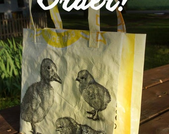 CUSTOM MADE Feed Sack Tote