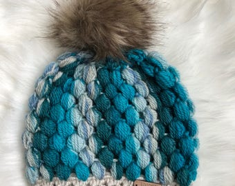 Baby beanie Toddler Fur Pom Hat