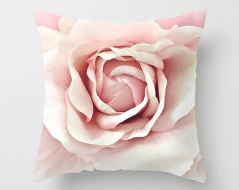Shabby Chic Rose Pillow, Shabby Chic Decor, Pastel Pink Roses Throw Pillow, Pink Baby Girl Nursery Pillow, Pink Rose Nursery Throw Pillows