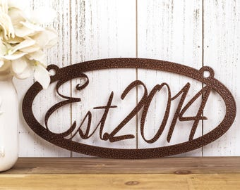 Established Family Metal Sign | Metal Wall Art | Established Sign | Established Metal Sign | Established | Family Establish | Custom Sign