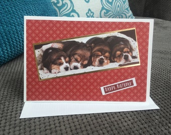 Handmade Puppy Birthday Card