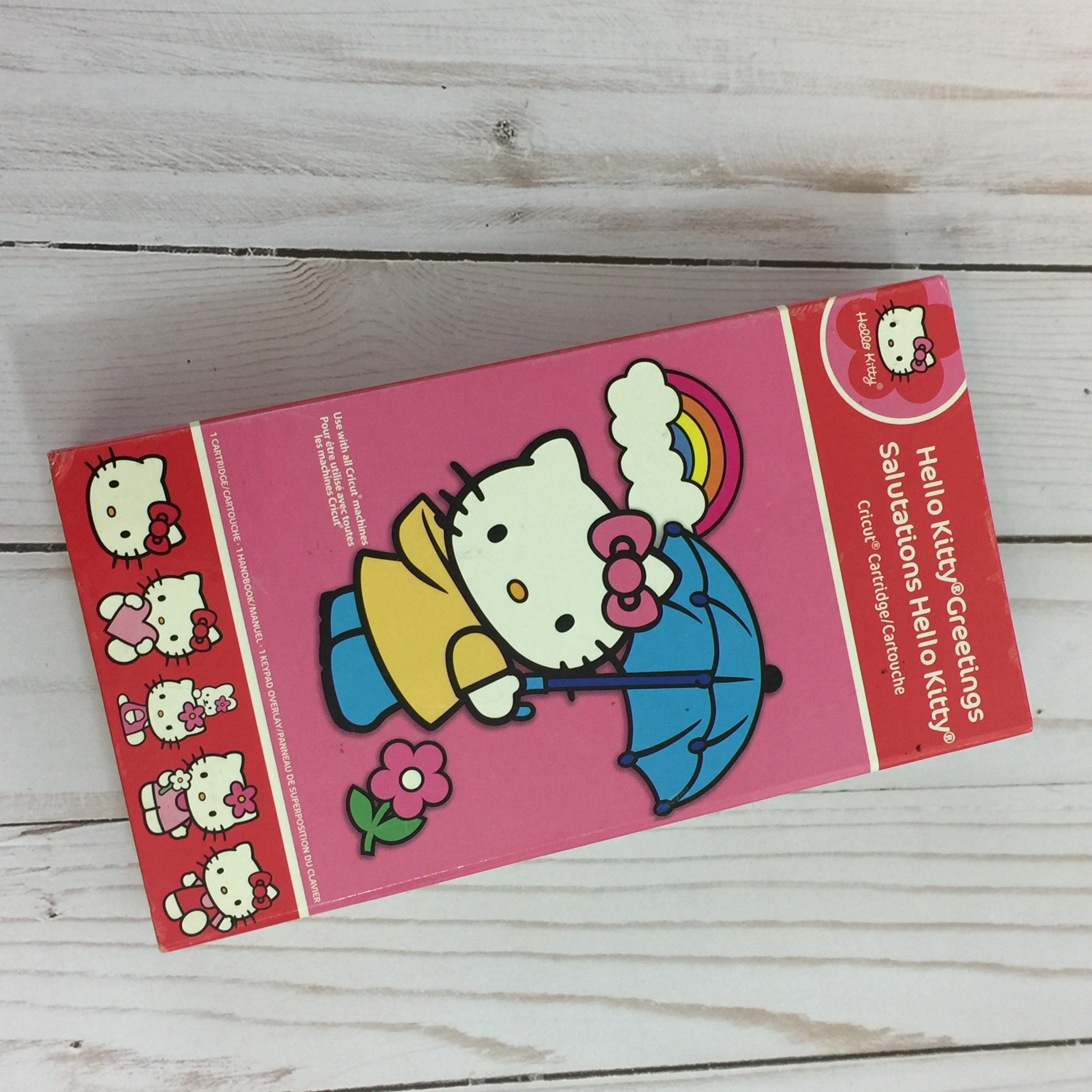 Retired hello kitty cricut cartridge greetings and description previously owned hello kitty cricut cartridge greetings salutations m4hsunfo