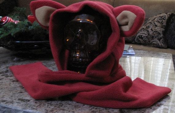 Cosplay Foxy fleece scarf hoodie ear hat