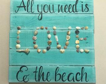 Handmade Beach Seashell Art Wall Decor