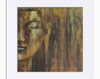 Buddha; Serenity Picture - Limited Edition Fine Art Print, Original Artwork by Tracey Zorek