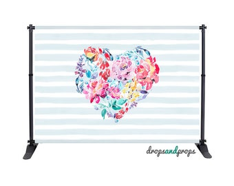 Floral Heart – Photography Backdrop