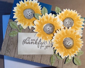 I Am Thankful for You - Your Kindness Mean So Much More Than You Will Ever Know - Stampin Up Greeting Card
