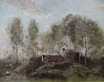The Landscapes of Corot 1796 - 1875 Parts 1,2,3,4 & 6 - 5 Antique Books of Prints