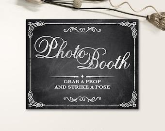 Printable Wedding Signs, Chalkboard Wedding Signs, Photo Booth Wedding Signs PDF, JPG files - Chalkboard