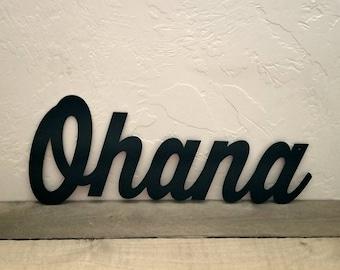 Ohana Metal Sign Hawaiian Decor, Ohana Family Sign Metal Wall Art, Metal Ohana Decor, Inspirational Sign Hawaii Art, Live Aloha Beach Decor