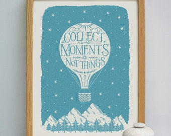 Collect Moments Travel Print | Bon Voyage Gift | Leaving Gift | Travel Gift
